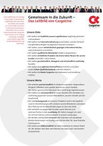 Unterzeichnung des CargoLine-Werteposters mit den Werten und Zielen der Kooperation durch alle Partnerbetriebe